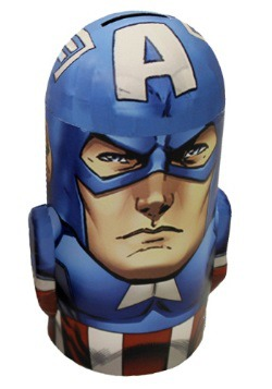 Captain America Tin Bank