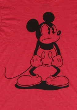 Men's Mickey Mouse Standing Mad T-Shirt2