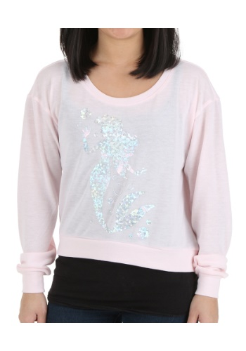 Little Mermaid Ariel Hologram Pullover Juniors