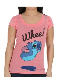 Lilo & Stitch Whee Stitch Juniors T-Shirt