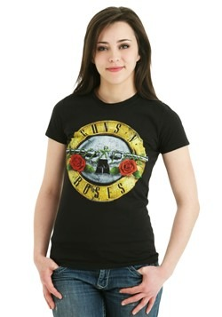 Guns N Roses Distressed Bullet Juniors Shirt