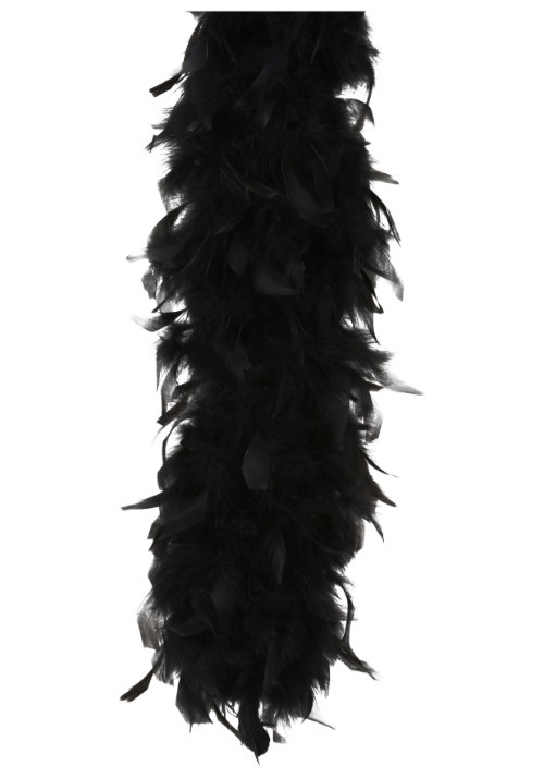 120g Deluxe Black Feather Boa