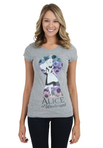 Alice In Wonderland Alice Keyhole Juniors T-Shirt