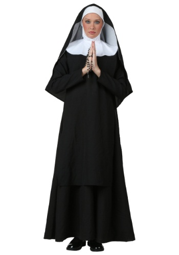 Deluxe Nun Plus Size Women's Costume
