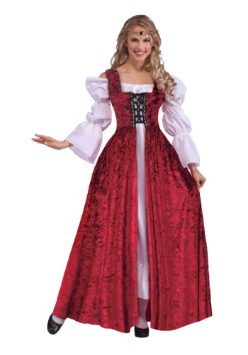 Women's Plus Size Medieval Laced Gown