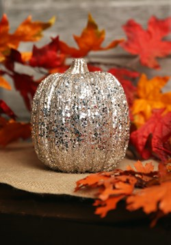 Champagne Glitter Pumpkin Halloween Decor update