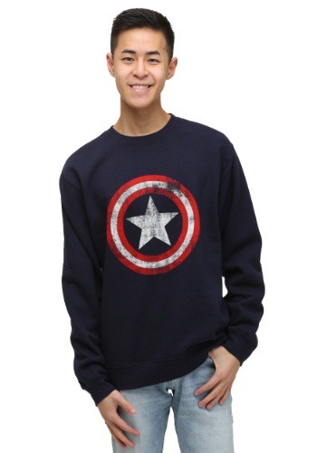 Captain America Shield Crew Neck Sweatshirt