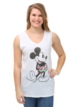 Women's Mickey Mouse White Tank Top