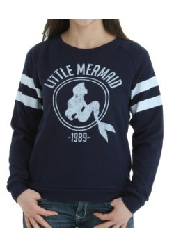 Little Mermaid 1989 Stripes Juniors Pull Over