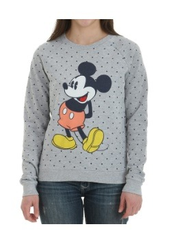 Mickey Mouse Pop Shorts Polka Dots Juniors Pull Over