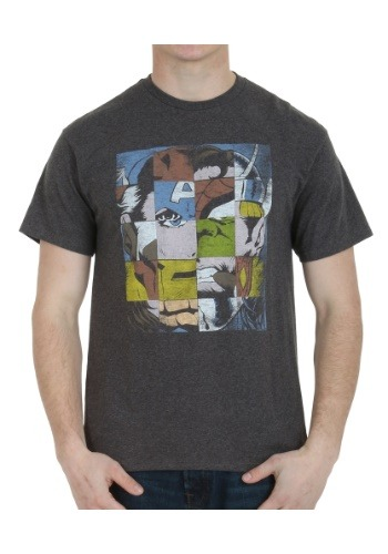 Marvel Block Faces T-Shirt