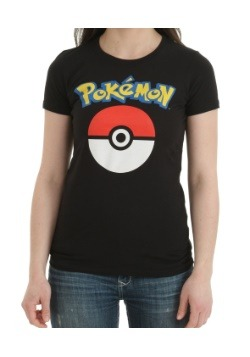 Pokemon Logo and Pokeball Juniors T-Shirt