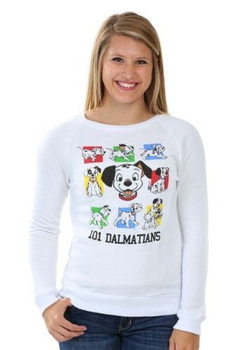 101 Dalmatians Snow Heather Pullover Juniors Sweatshirt
