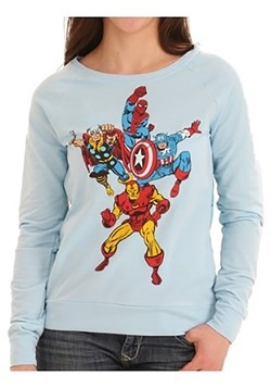 Avengers Group Shot Front Sublimated Back Juniors Shirt