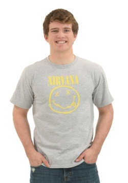Nirvana Smile Heather Gray T-Shirt