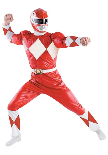 Red Ranger Adult Deluxe Costume