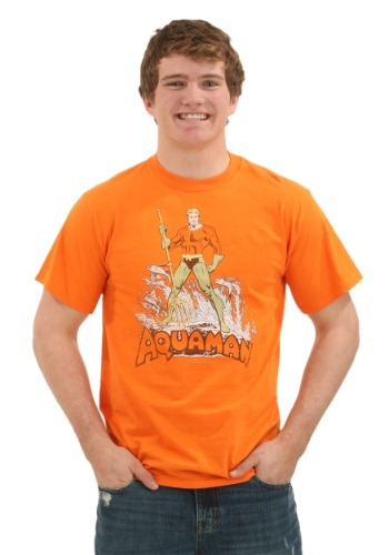 Aquaman Distressed Pose Men's T-Shirt