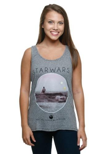 Star Wars Photoreal Circle Juniors Tank Top