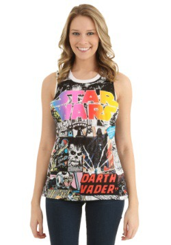 Juniors Star Wars All Over Muscle Tank