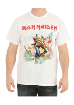 Iron Maiden Trooper White Shirt