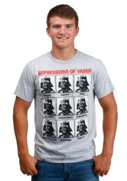 Men's Darth Vader Expressions Heather Grey T-Shirt