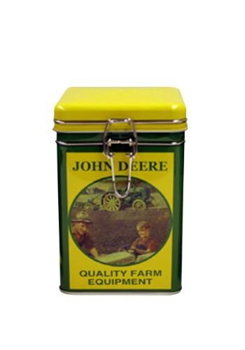 John Deere Quality Square Lock-Top Tin