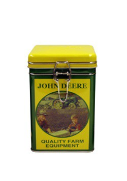 John Deere Quality Square Lock-Top Tin