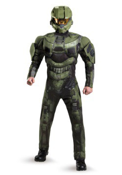 Master Chief Deluxe Muscle Adult Plus Size Costume