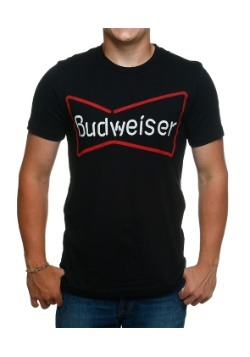 Budweiser Neon Sign Men's Made In USA Tee