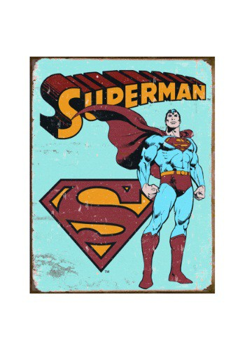 Superman Vintage Tin Sign