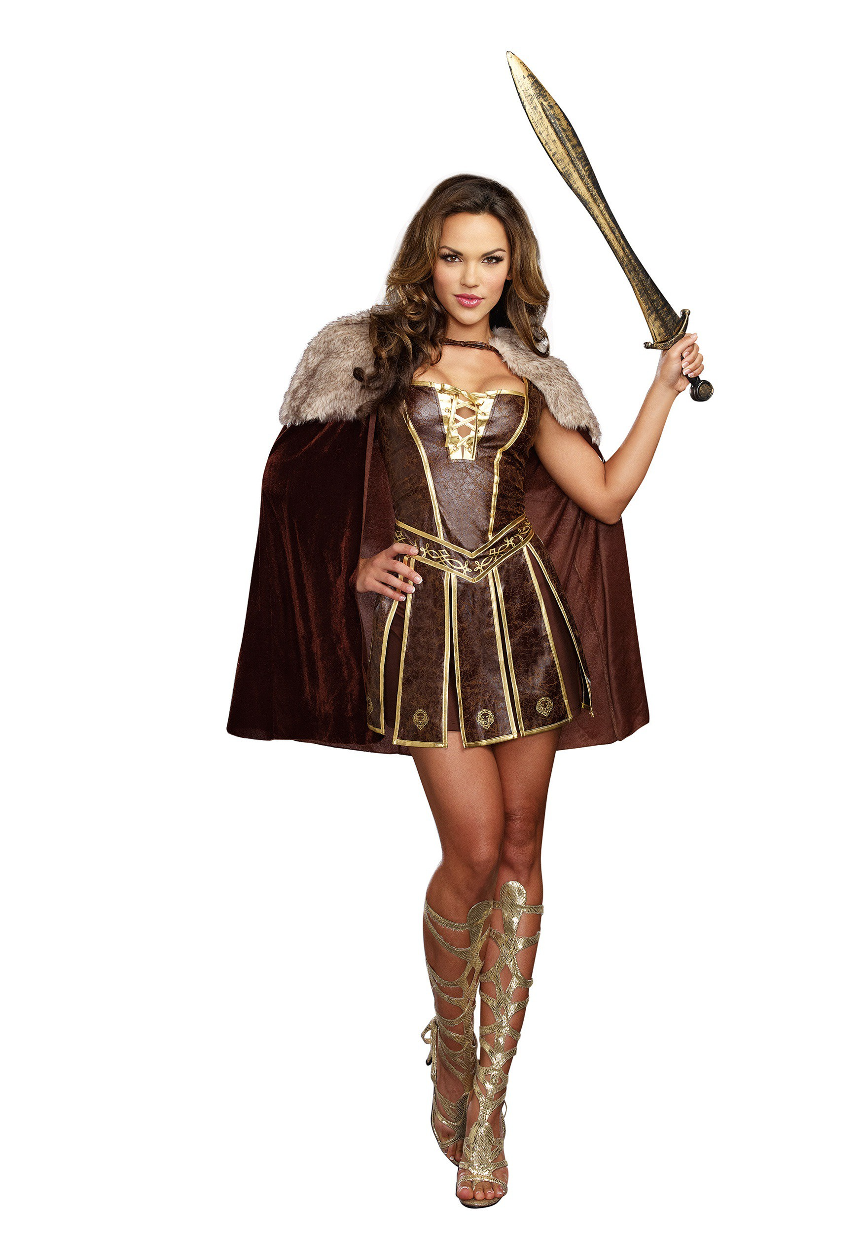 Victorious Beauty Gladiator Fancy Dress Costume