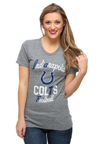 Indianapolis Colts Touchdown Tri-Blend Juniors T-Shirt