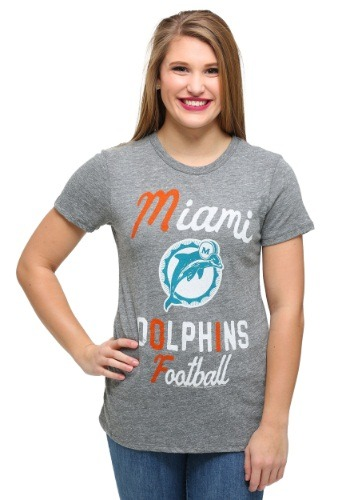 Miami Dolphins Touchdown Tri-Blend Juniors T-Shirt