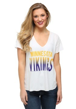 Minnesota Vikings Sideline V-Neck Juniors T-Shirt