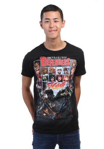 Avengers Fearless Defenders Black T-Shirt