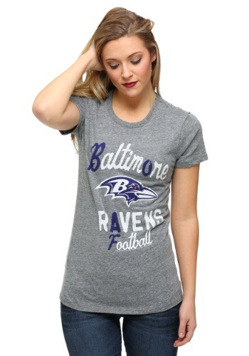 Baltimore Ravens Touchdown Tri-Blend Juniors T-Shirt