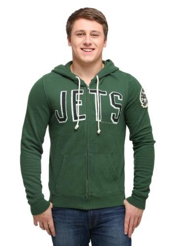 New York Jets Sunday Mens Zip Up Hoodie