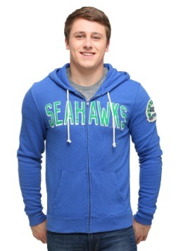 Seattle Seahawks Sunday Mens Zip Up Hoodie