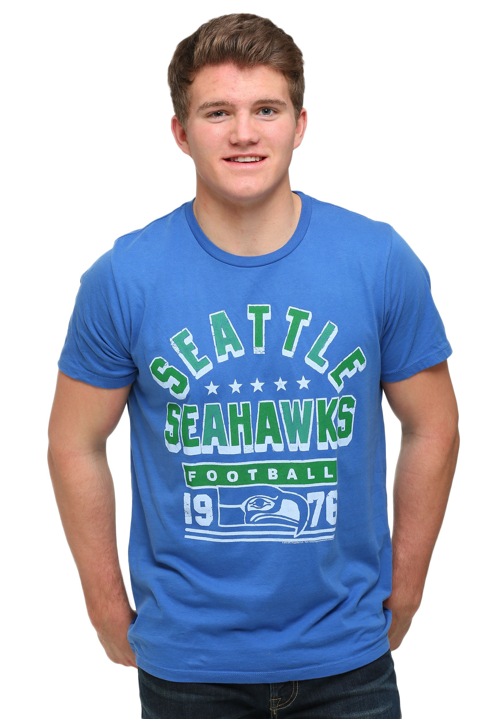 Men s Seattle Seahawks Kickoff Crew T-Shirt bab4de301