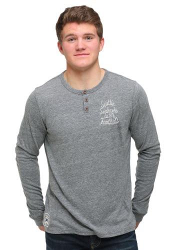 Seattle Seahawks Huddle Henley Mens Long Sleeve Shirt