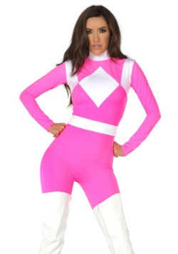 Women's Dominance Action Figure Pink Catsuit