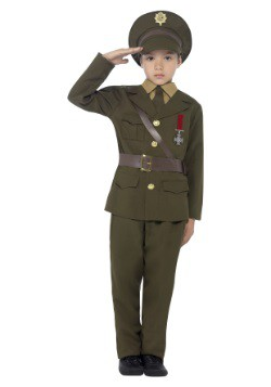 Kids Army Officer Costume