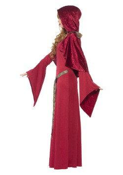 Women's Red High Priestess Costume 3