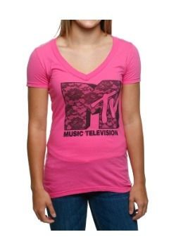 MTV Lace Logo Juniors Shirt