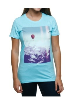 Up Balloons Over Clouds Juniors T-Shirt