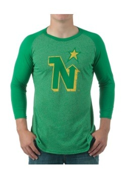 North Stars Retro Triblend Men's Raglan Shirt