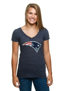 Women's New England Patriots Juniors V-Neck T-Shirt