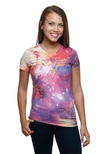 Wonder Woman Galaxy Sublimated Juniors T-Shirt