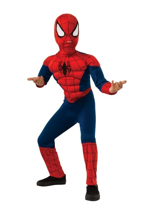Kids Ultimate Spider-Man Muscle Chest Costume