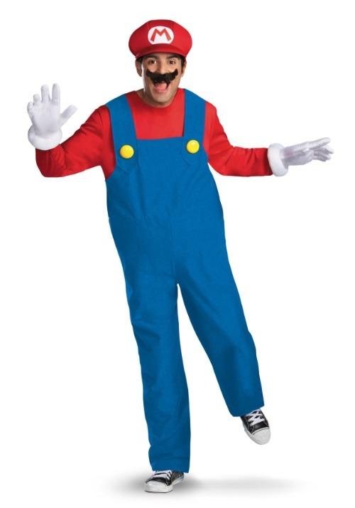 Deluxe Mario Mens Costume